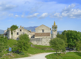 Panorama of old town Hum in Croatia, Istria