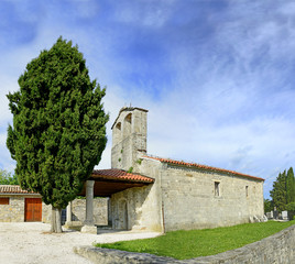Town Hum, Romanesque church of St. Hieronymous, Croatia, Istria