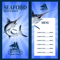 SEAFOOD MENU SWORDFISH