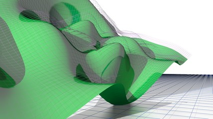Waved flying surface - Math & Science