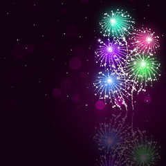 Multicolor Fireworks Show