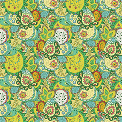 Seamless abstract floral pattern, background.