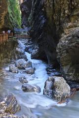 Stream flowing through Lichtensteinklamm gorge