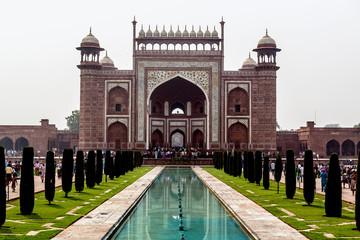 The gate to the Taj Mahal