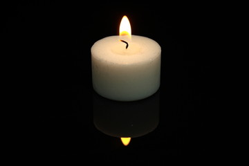 White candle.