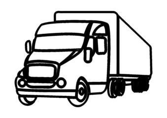 Camion semi-remorque graphique