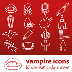 vampire outline icons