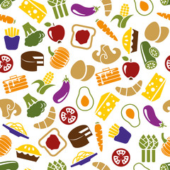 vegetarian meals seamless pattern