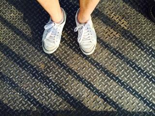 look down on my feet