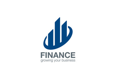 Stock Exchange Finance logo design. Real Estate Logotype