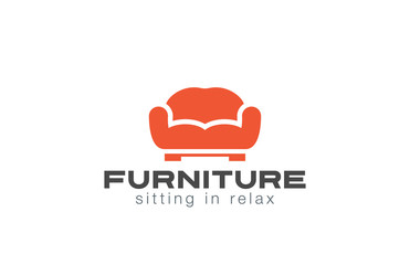 Furniture Logo Sofa design vector. Couch silhouette
