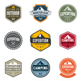 Adventure Tourism Travel Logo Vintage Labels design poster