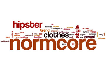 Normcore word cloud