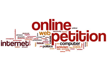 Online petition word cloud