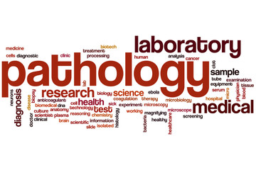 Pathology word cloud