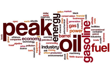 Peak oil word cloud