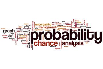 Probability word cloud