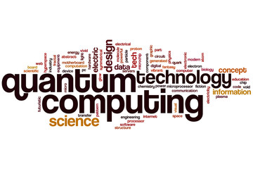 Quantum computing word cloud