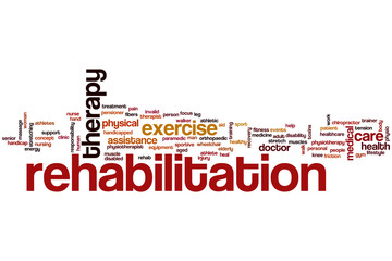 Rehabilitation word cloud