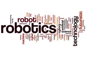 Robotics word cloud