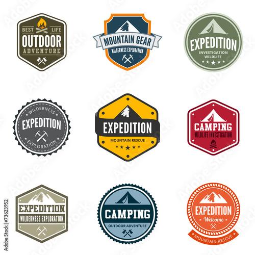 Przygoda turystyka podróży Logo Vintage Design etykiety