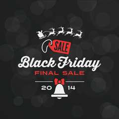 Black Friday Typography Advertising Poster design vector