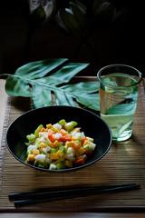 Oriental raw vegan salad