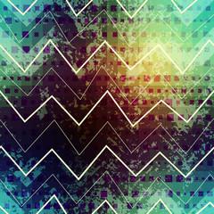 Grunge green chevron pattern.