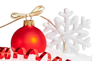 New Year 2015, Christmas decoration on white background