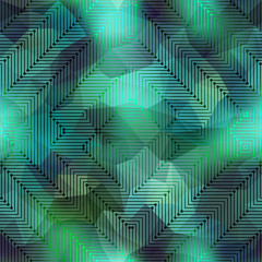 Computer green matrix