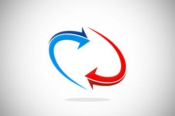 circle arrow abstract design logo