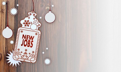 xmas coupon with new jobs sign