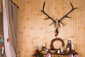 Festive arrangement for Christmas in a chalet