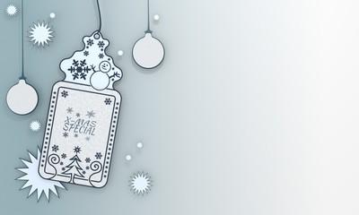 blue xmas coupon with christmas special symbol