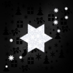 noble star label with stars