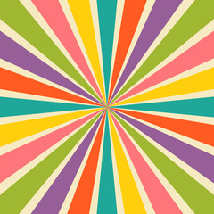 Burst vector background in retro style.