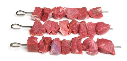 Raw Lamb Kebabs