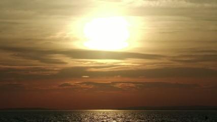 Sunset over Lake Balaton in Hungary - Eastern/Central Europe
