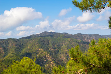 Troodos mountains landscape, Cyprus.