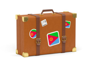 Suitcase with flag of eritrea