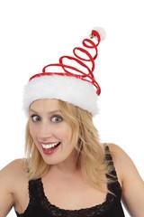 femme s'amusant à Noël