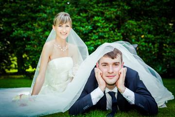 wedding games on a grass