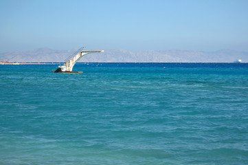 Diving Tower in the Sea