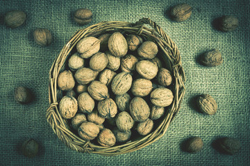 basket with nuts