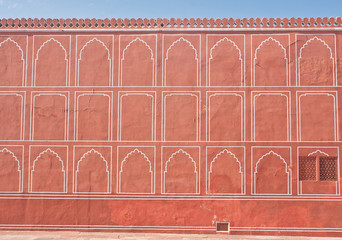 Detail of the architecture of the city palace. Jaipur, India