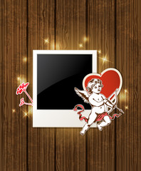Photo and Cupid for Valentine's day