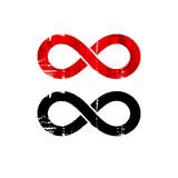 Limitless symbol icon. Grunge vector illustration. poster