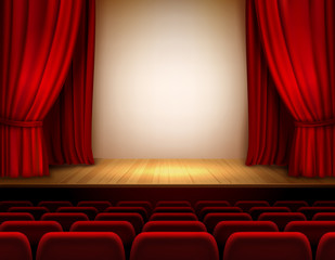 Theater stage background