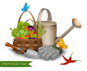 Farm fresh food concept