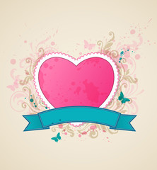 Background with pink heart